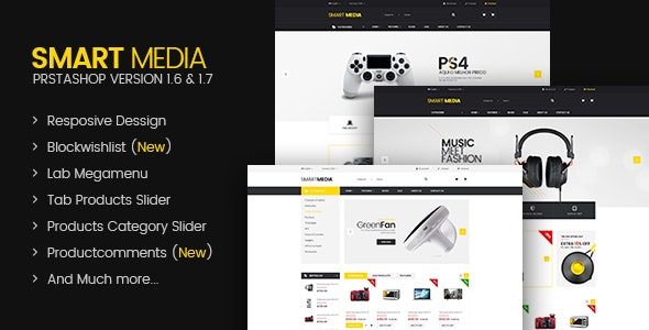 Smart media Responsive Prestashop 1.6,1.7 Theme - Technology PrestaShop