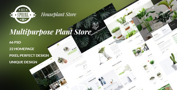SPRING - Multipurpose Plant Store - Retail Photoshop