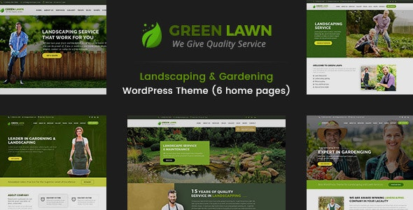 Green Lawn - Landscaping WordPress Theme - Business Corporate
