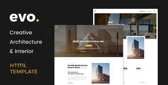 EVO - Creative Architecture & Interior HTML Template - Marketing Corporate