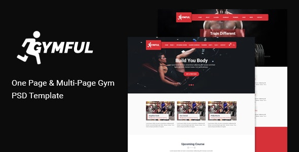 GYMFUL - Gym, Yoga & Fitness PSD Template - Health & Beauty Retail