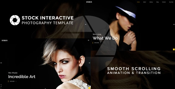 Stock   Interactive Photography Template - Photography Creative
