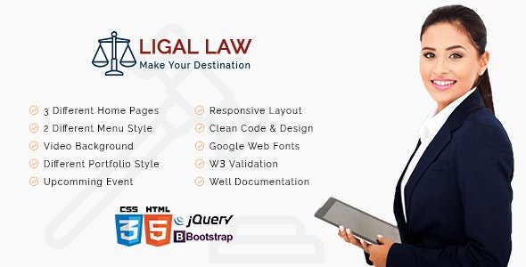 Ligal Law - Corporate Site Templates
