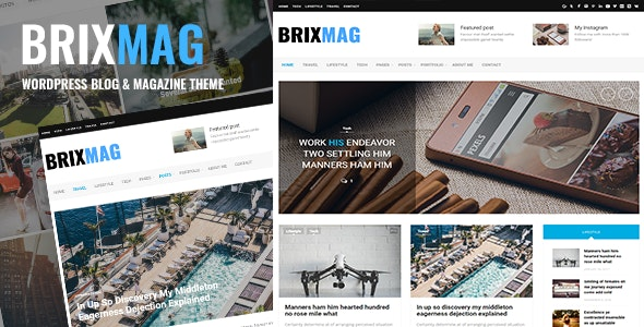 Brixmag - Responsive Blog/Magazine WordPress Theme - Blog / Magazine WordPress