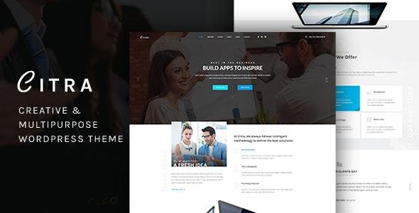 Citra - Finance WordPress Theme - Business Corporate