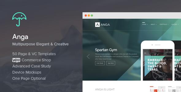Anga - Multipurpose Elegant and Creative Theme - Creative WordPress