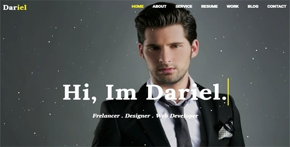 Dariel-Personal Portfolio HTML Template - Site Templates