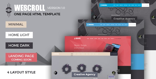 WeScroll Business Single Page HTML Template - Business Corporate