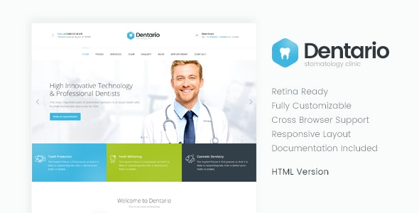 Dentario | Dentist & Medical HTML Template - Health & Beauty Retail