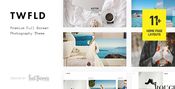 TwoFold - Fullscreen Photography WordPress Theme - Photography Creative