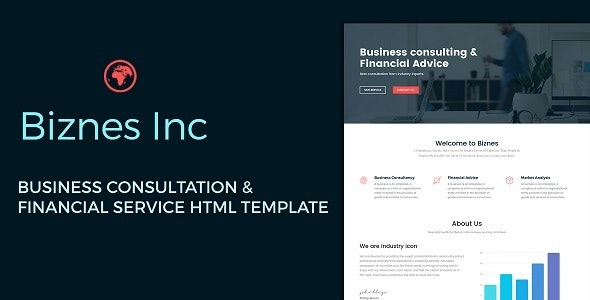Biznes Inc - Business Consulting and Financial Services HTML Template - Business Corporate