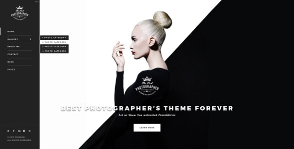 Photography bootstrap theme - Photography Creative