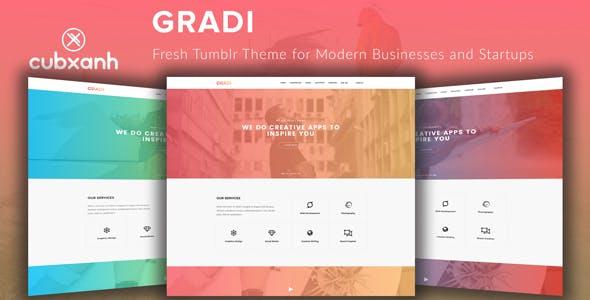 Download Gradi - Fresh Tumblr Theme for Modern Businesses and Startups