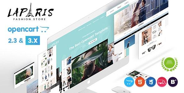 LaParis - Simple Creative Responsive Opencart Theme - Fashion OpenCart