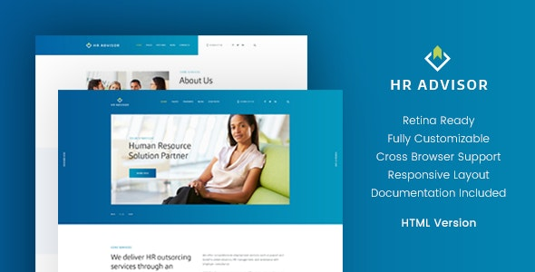 HR Advisor & Business Consulting HTML Template - Business Corporate