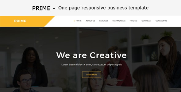 Prime - One Page Business Responsive HTML Template - Business Corporate