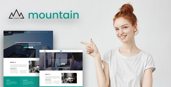 MOUNTAIN - Corporate and Business Startup Template - Corporate Site Templates