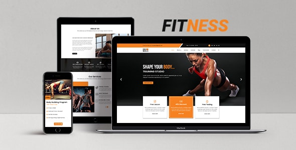 Fitness - HTML5 One Page Responsive Template - Health & Beauty Retail