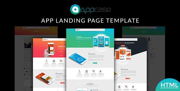 Appcase App Landing Page - Technology Site Templates