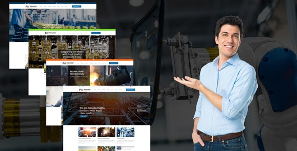 Manufacturing - Factory & Industrial WordPress Theme - Business Corporate