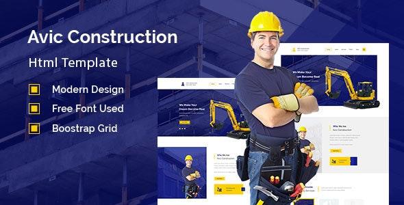 Avic - Construction Building Company - Corporate Site Templates