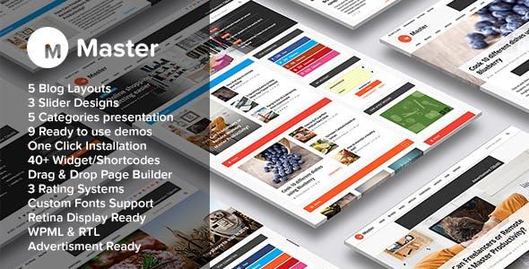 Master | Premium Blog and Magazine WordPress Theme