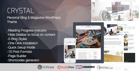 Crystal | Personal Blog WordPress Theme