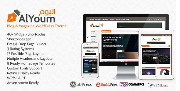 AlYoum | Retina Magazine and Blog WordPress Theme