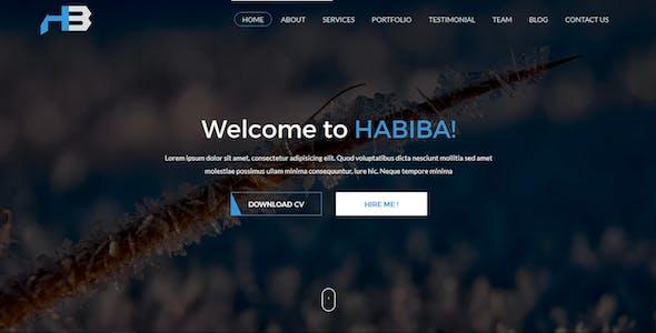 Habiba - Portfolio and Cv HTML-5 Bootstrap Template