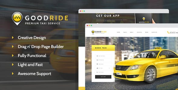 Download Good Ride - Taxi Company, Cab Service WordPress Theme