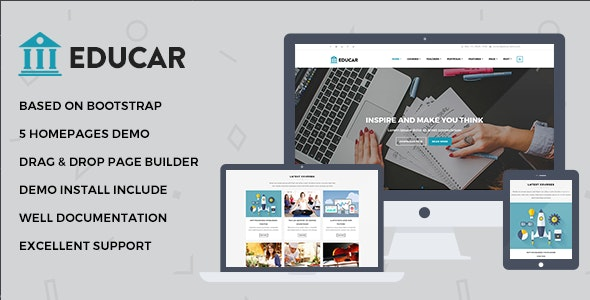 Educar - Powerful Education, Courses Drupal Theme - Miscellaneous Drupal
