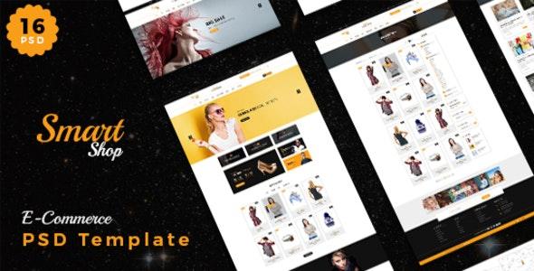 Smart Shop- Ecomerce PSD Template - Photoshop UI Templates