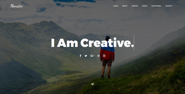 Monster - OnePage Personal Joomla! Template - Personal Blog / Magazine