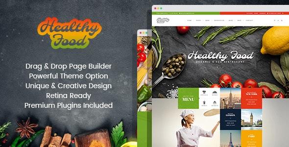 Healthy Food - Organic & Eco Restaurant WordPress Theme - Restaurants & Cafes Entertainment
