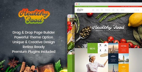 Healthy Food - Organic & Eco Restaurant WordPress Theme