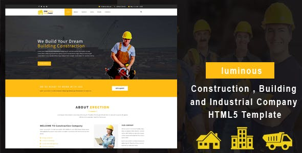 luminous - Construction , Building and Industrial Company HTML5 Template