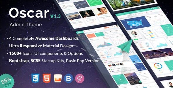 Oscar - HTML Bootstrap 4 Admin Template