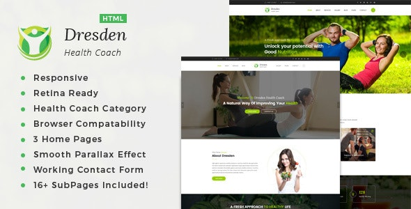 Dresden - HTML Template for Personal Life Coaching Website - Health & Beauty Retail