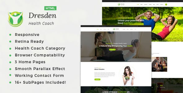 Dresden - HTML Template for Personal Life Coaching Website