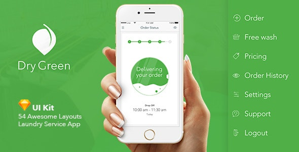 Dry Green - Service App UI - Business Corporate
