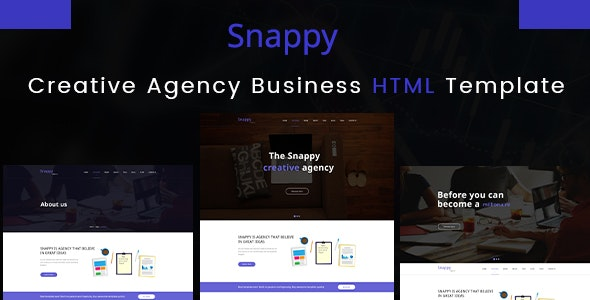 Snappy - Creative Agency HTML Template - Business Corporate