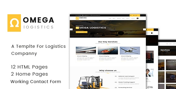 Omega - Logistics  and Transportation  HTML Template - Business Corporate
