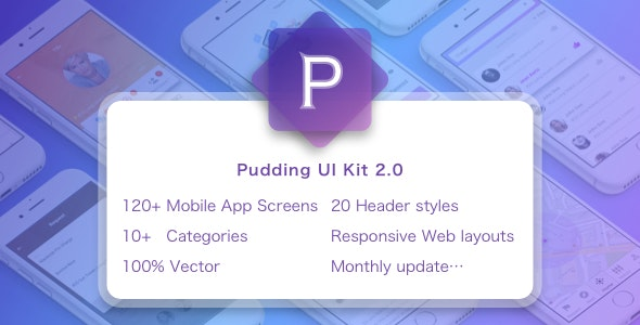Pudding UI KIT - Shopping Retail