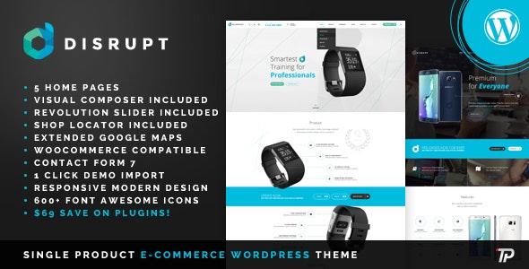 Disrupt - WooCommerce Product WordPress Theme - Technology WordPress