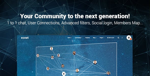 Eonet - Responsive Communities & Networks WordPress Theme