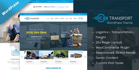 Extransport - Freight, Logistics WordPress theme - Business Corporate