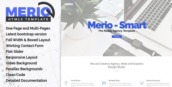 Merio - Creative One Page Parallax
