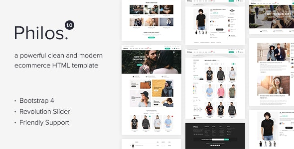 Philos - Responsive Ecommerce Html Template - Fashion Retail
