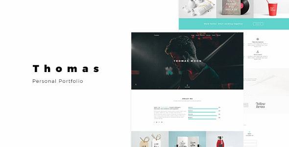 Thomas - Personal Portfolio - Portfolio Creative