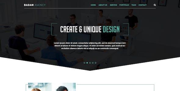 Badam Agency - One Page PSD